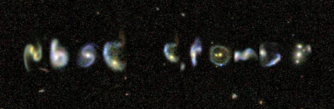 Cromer name written using images of galaxies