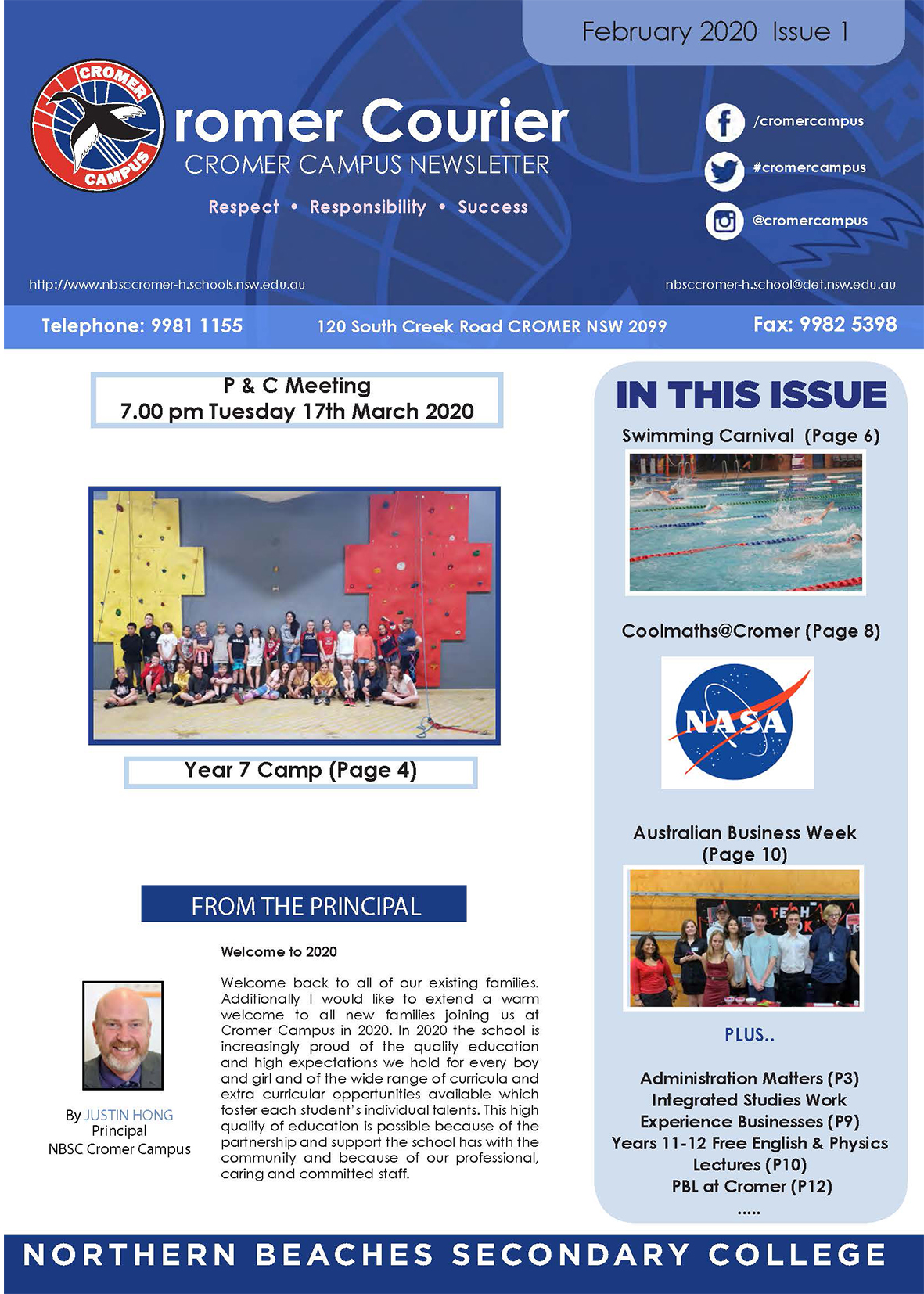 News letter issue 1 2020